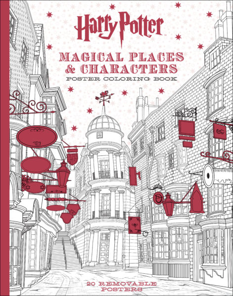 Harry Potter Magical Places Characters Poster Coloring Book