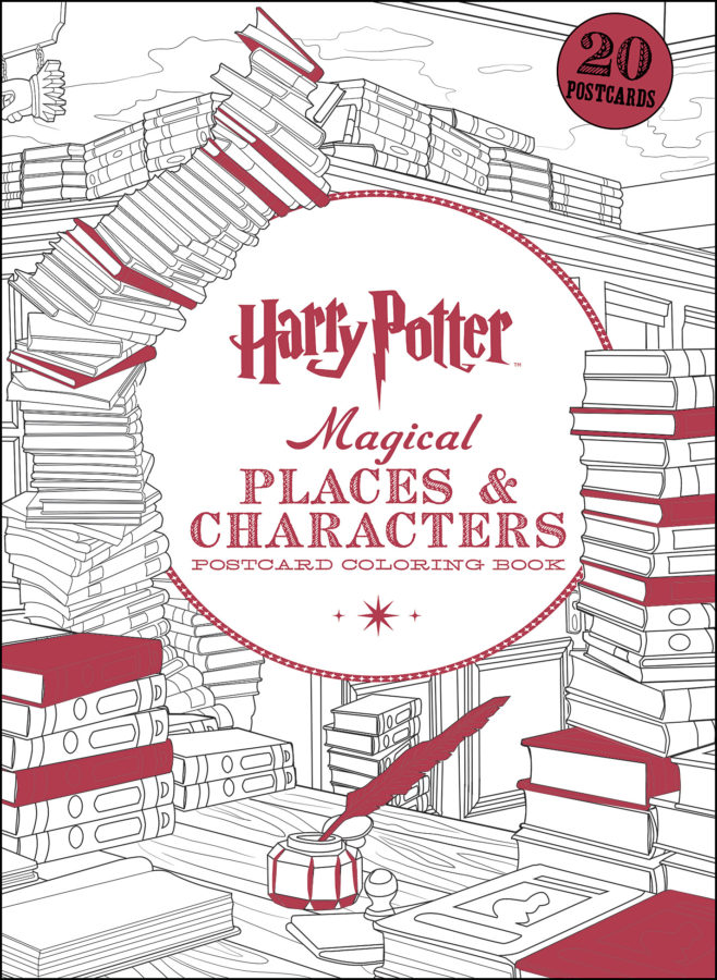 Scholastic - Harry Potter Magical Places & Characters Postcard Coloring Book