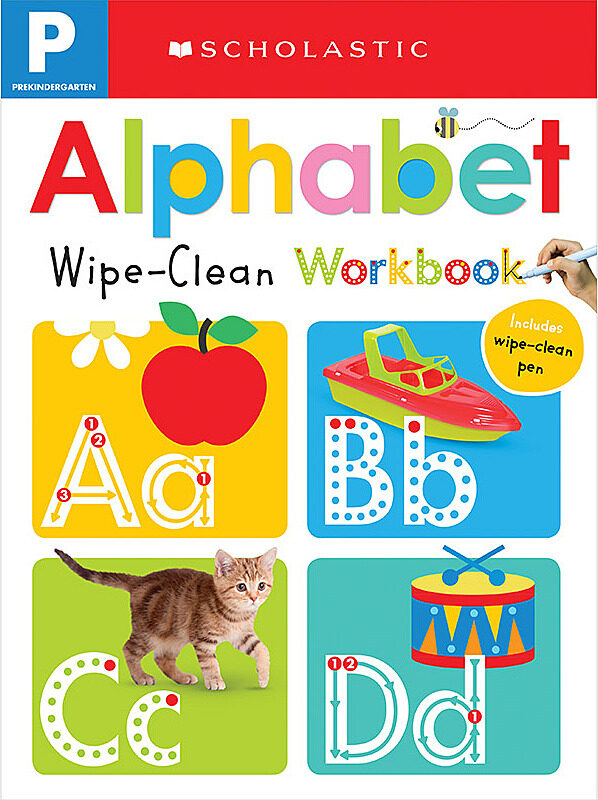 Scholastic - Wipe Clean Workbooks - Pre-K: Alphabet