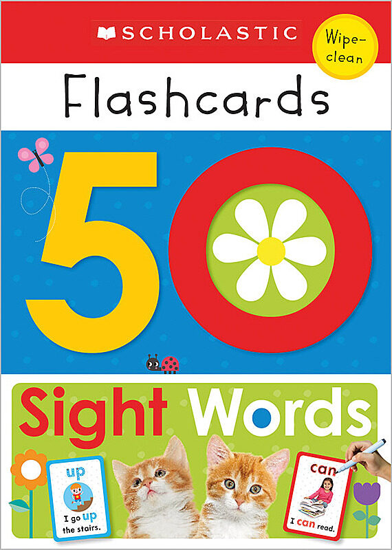 Scholastic - Flashcards — 50 Sight Words