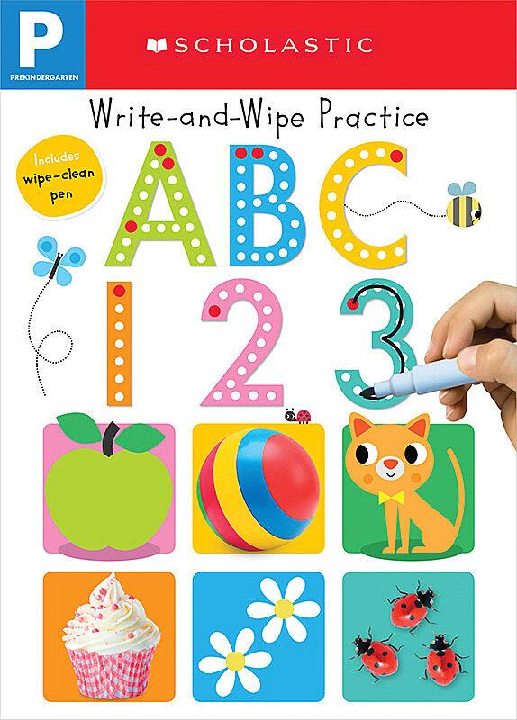 Scholastic - Write and Wipe Practice: ABC 123