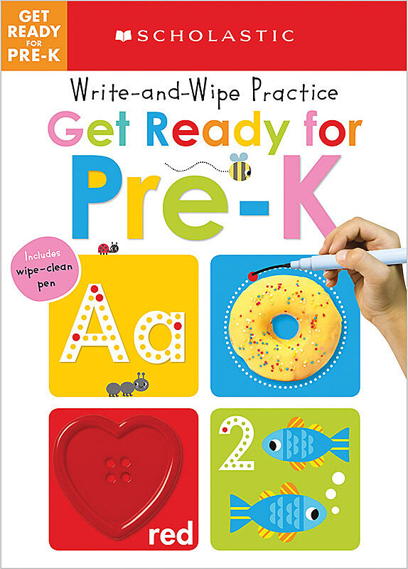Scholastic - Write and Wipe Practice: Get Ready for Pre-K