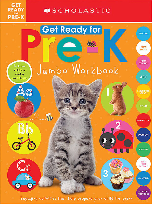 Scholastic - Jumbo Workbook: Get Ready for Pre-K