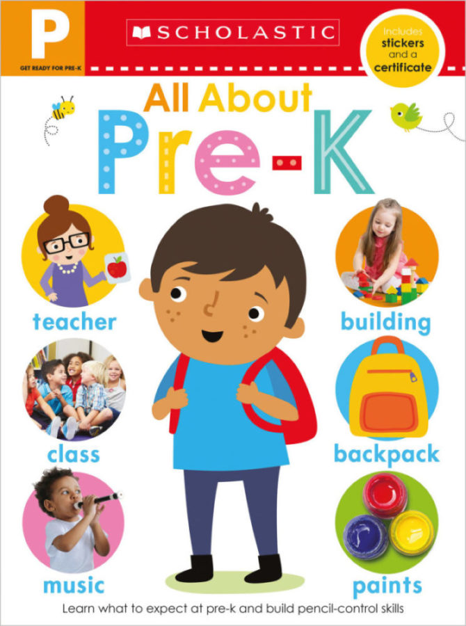 - Get Ready for Pre-K Skills Workbook: All About Preschool