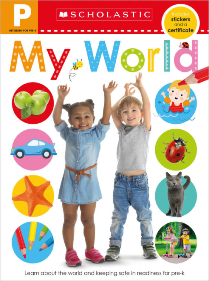 - Get Ready for Pre-K Skills Workbook: My World
