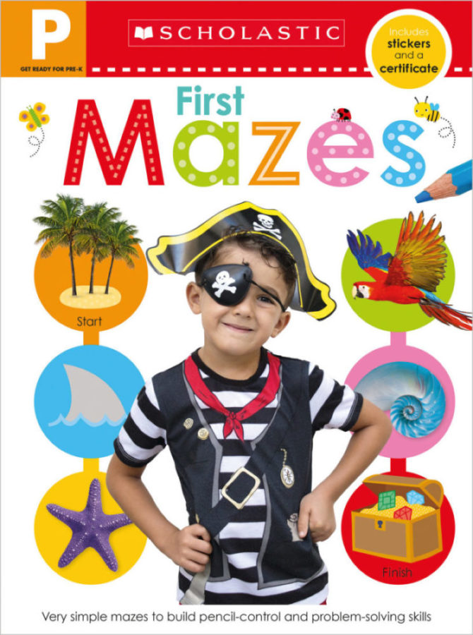 - Get Ready for Pre-K Skills Workbook: First Mazes