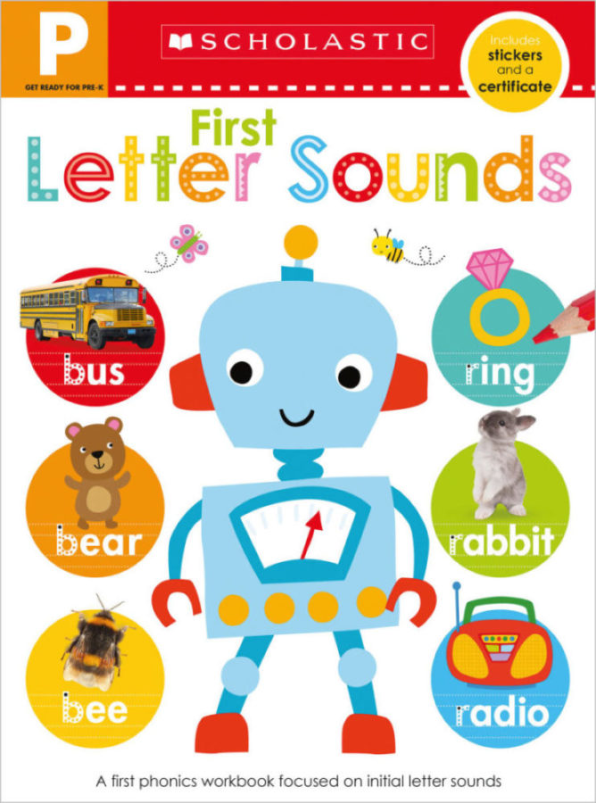 - Get Ready for Pre-K Skills Workbook: First Letter Sounds