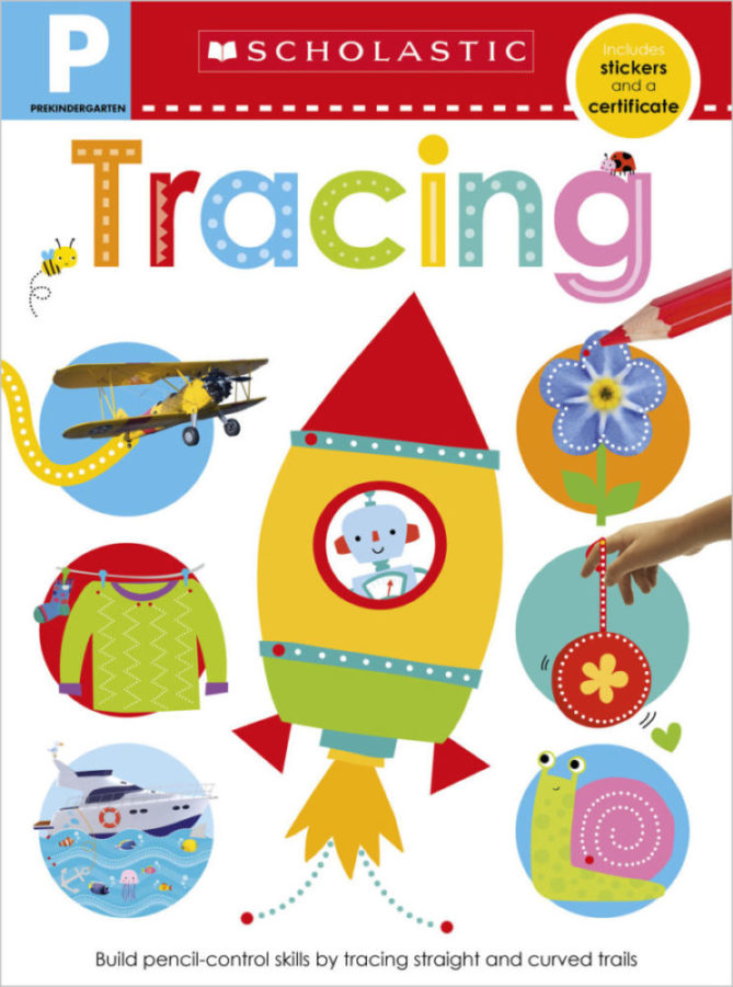 Scholastic - Pre-K Skills Workbook: Tracing