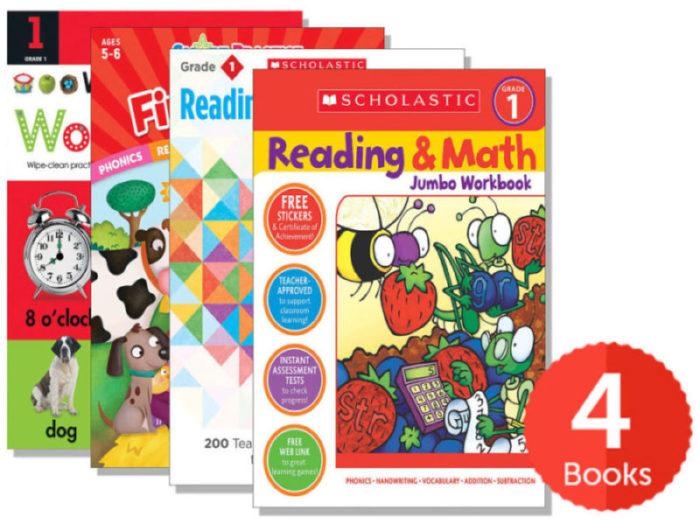 First Grade Workbook Bundle (Pack of 4) by - Skills Book Set