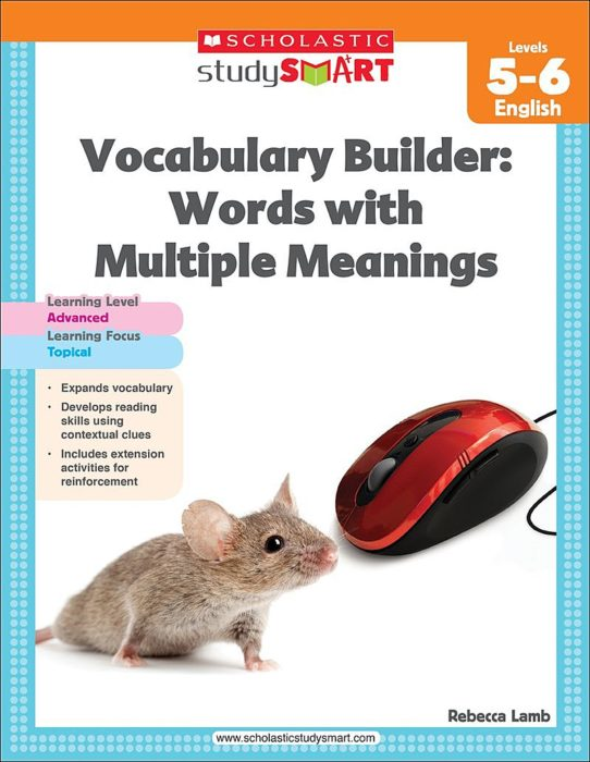 Scholastic Study Smart Vocabulary Builder: Words with