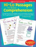 Hi-Lo Passages to Build Reading Comprehension Skills: Grades 3-4