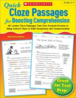 Quick Cloze Passages for Boosting Comprehension (Grades 2-3)