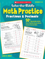 Solve-the-Riddle Math Practice: Fractions & Decimals