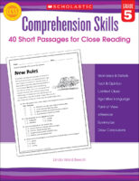 Comprehension Skills: 40 Short Passages for Close Reading: Grade 5