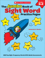 The Jumbo Book of Sight Word Practice Pages