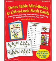 Times Table Mini-Books & Lift-n-Look Flash Cards